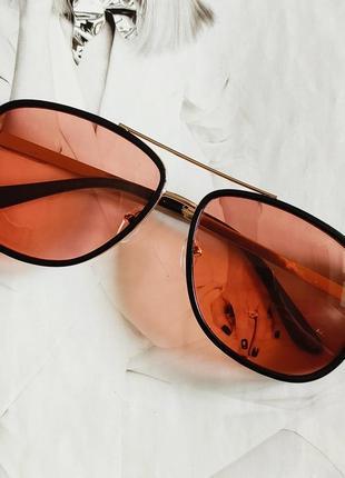 Мужские очки в стиле тони старк красный в золоте