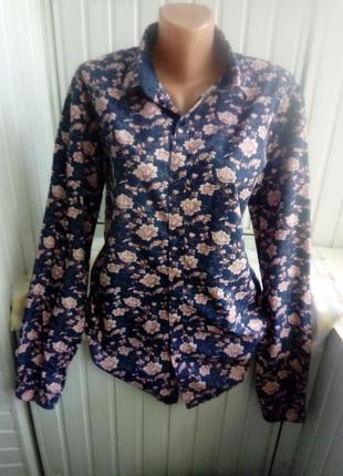 Коттоновая блуза рубашка