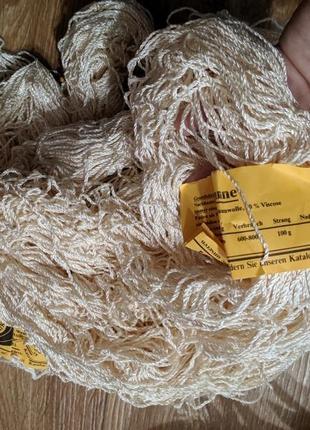 Пряжа, нитки для вязания, хлопок с вискозой