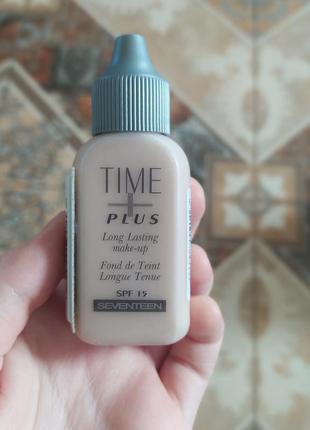 Тональный крем тональная основа seventeen time plus  база long lasting make-up spf 15