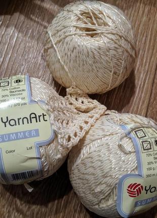 Пряжа, нитки для вязания, хлорок с вискозой, yarnart summer