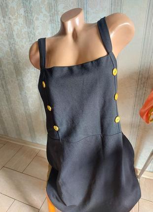 Сарафан платье с пуговицами