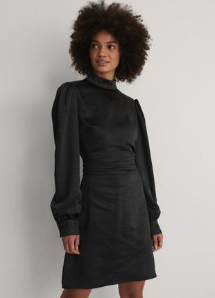 Нарядное сатиновое платье от na-kd