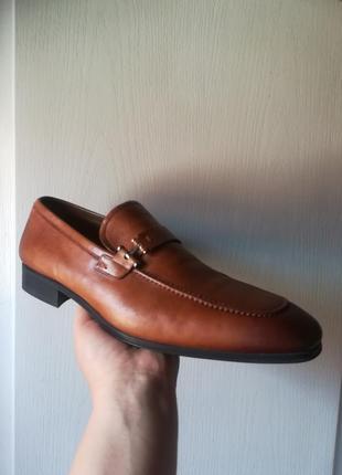 Классические кожаные туфли лоферы пенни испания magnanni 46 р.