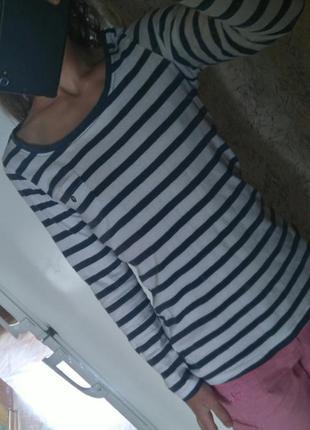 Лонгслив в полоску реглан футболка с рукавом3