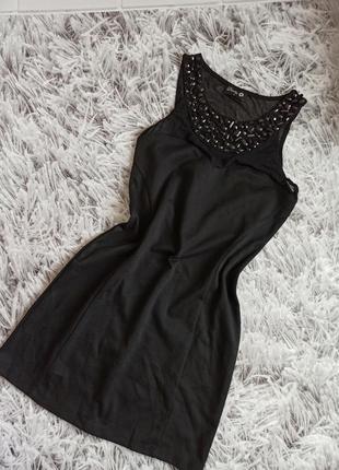 Вечернее платье danity black, коктейльное платье чёрное, женское платье короткое чёрное