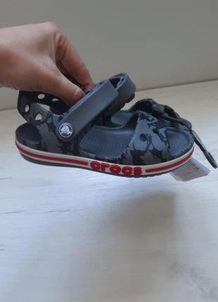 Оригинал crocs удобнейшие сандали босоножки серые crocs bayaband sandal kid's кроксы