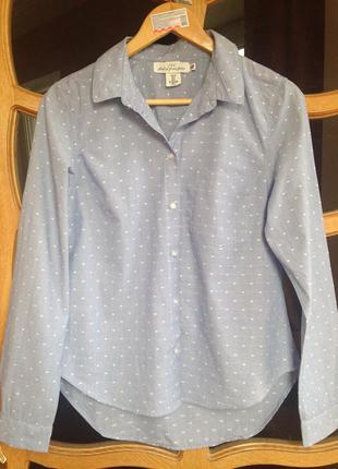 H&m хлопковая рубашка размер с-м