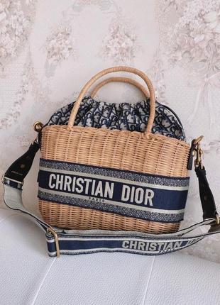 Пляжная плетеная сумочка на море на лето сумка соломенная брендовая