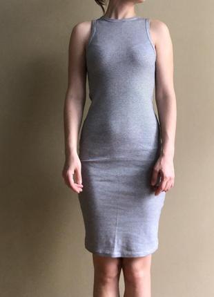 Платье zara трикотажное