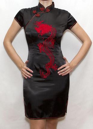 Платье в китайском стиле tangyu