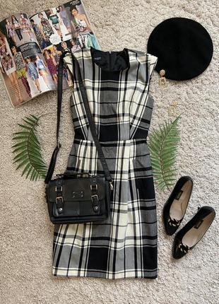 Распродажа!!! актуальное шерстяное платье в клетку №438