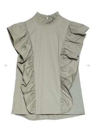 Трендовая блуза с воланами от zara