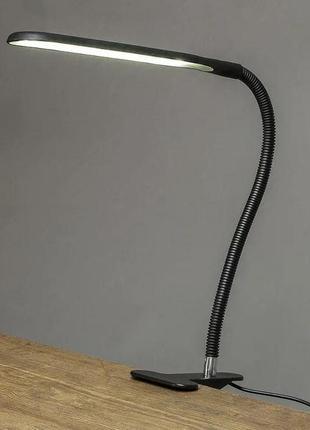 Настольная лампа светодиодная гибкая led на прищепке