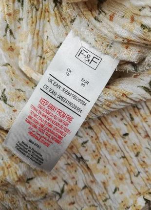 Шикарная фирменная блуза с рюшем по низу на пуговках f&f8 фото