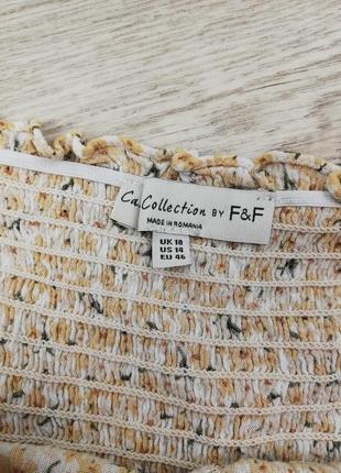 Шикарная фирменная блуза с рюшем по низу на пуговках f&f7 фото
