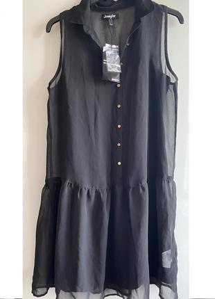 Шифоновое платье с воротником zara jennyfer