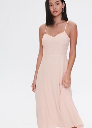 Летнее платье на брелетях пудра размер м