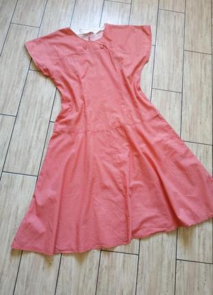 Винтажное платье миди свободного кроя