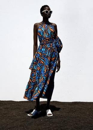 Сукня з принтом і сумочкою, zara! оригінал, з португалії!