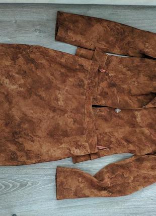 Костюм двойка юбка и пиджак жакет