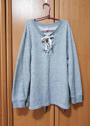 Стильный лёгкий свитшот, серая кофта, толстовка, свитер