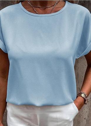 Женская блузка по типу футболки оверсайз, цвет-оливковый, есть батал