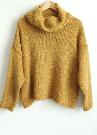 Шикарный свитер свободного фасона, италия.