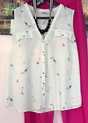 Стильная блуза интересний принт