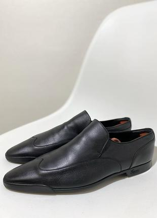 Мужские кожаные туфли лоферы gucci италия оригинал