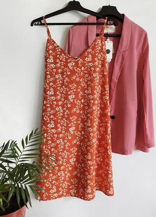 Сарафан платье на тонких бретелях в цветочный принт