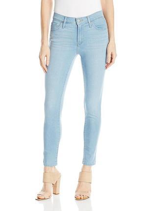 Levis оригинал голубые джинсы скинни высокая посадка узкие р31 и 32