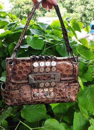 Маленька елегантна сумка guess рептилія