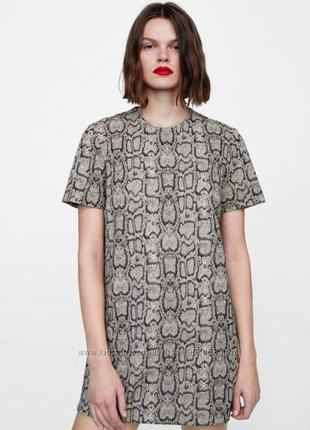 Zara жакардовое платье