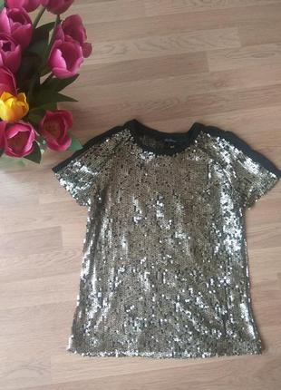 Блуза золотая из пайеток