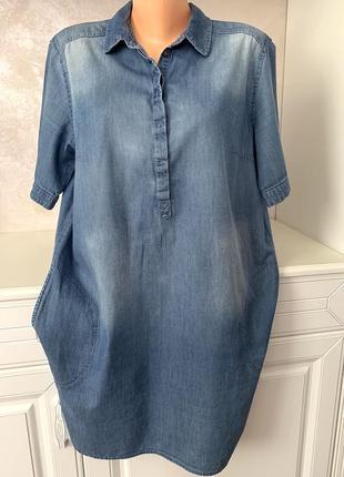 Брендовое котоновое джинсовое платье