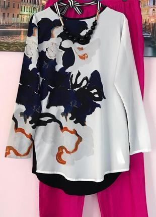 Стильная блуза , блузочка в квіти