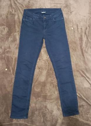 Джинсы брюки женские темно синие