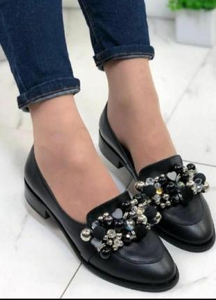 Туфельки-лоферы для модницы