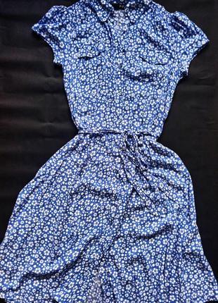 Платье миди на пуговках