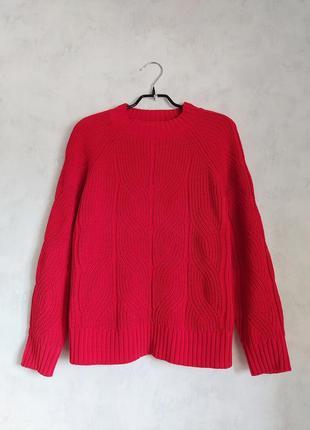 Красный алый свитер джемпер гольф