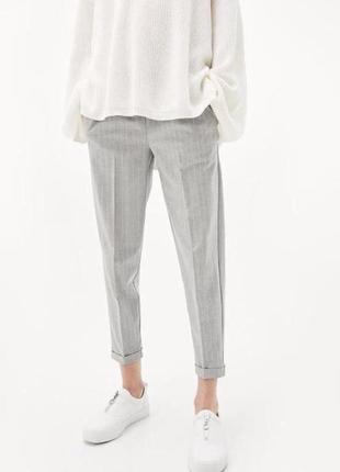 Штани, брюки bershka, в тоненьку полосочку