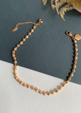 Женский браслет на ногу медицинское золото, браслет xuping медсплав бусинки
