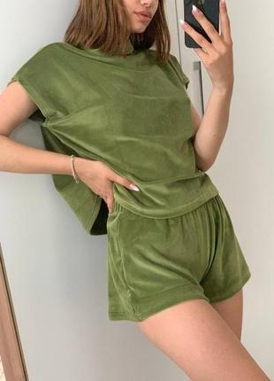 Акция ! нереальная велюровая пижама