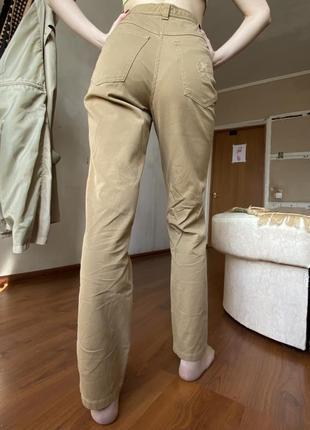 Бежевые штаны на высокой посадке винтаж vintage