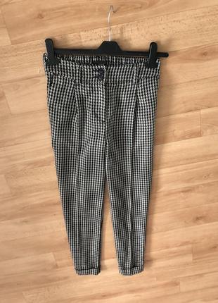 Модные укорочённые штаны штани брюки гусиная лапка next