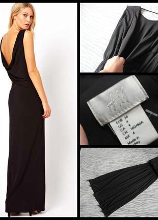 H&m.шикарное платье макси.открытая спинка.