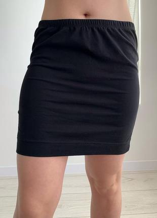 Юбка короткая, чорна спідниця, женская юбка мини, черная мини юбка, чорна міні юбка.