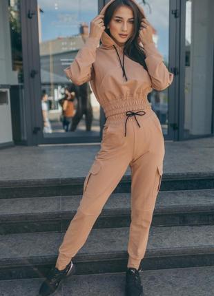 Спортивный костюм с штанами карго 4 цвета, р. 36, 38, 40