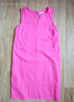 Платье сарафан лен